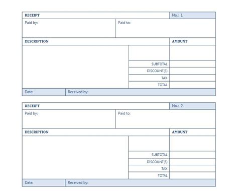 free receipt template word excel templates excel template excel business templates