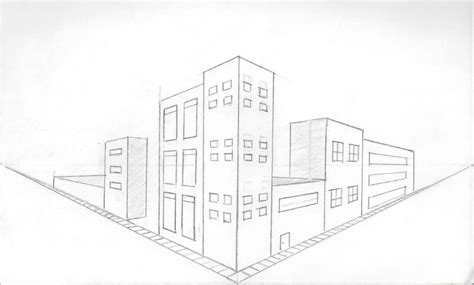 Drawing 2 Point Perspective Buildings by S Genius Project
