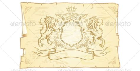 ancient scroll with lions graphicriver