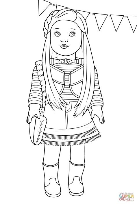 American Girl Doll Coloring Pictures Printable Kids Coloring American Coloring Pages Isabelle Printable
