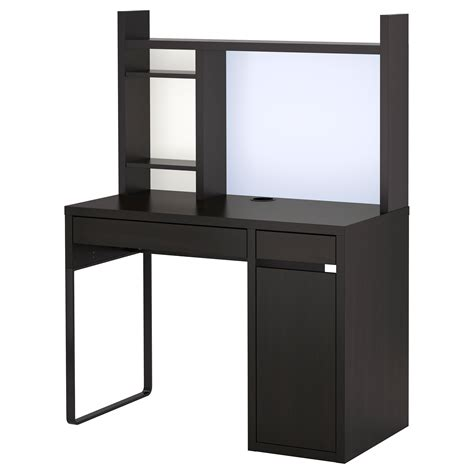 Decorating Chic Ikea Micke Desk In White And Black With Desk With Hutch Ikea
