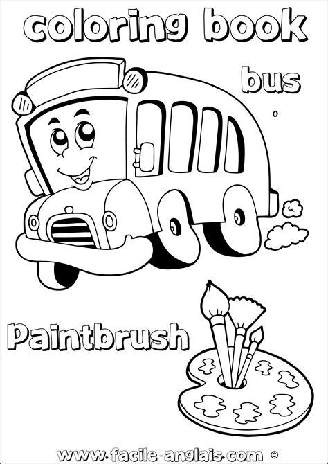 Dessin 195 Colorier Bus Anglais