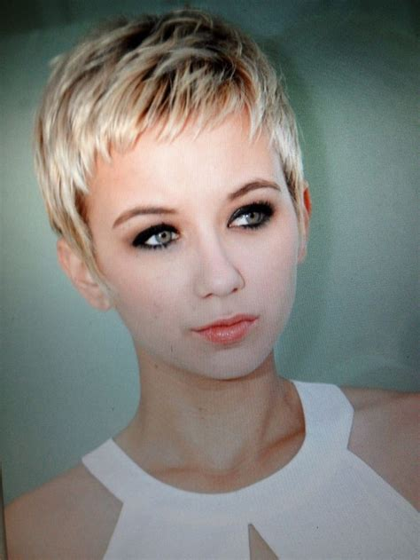 show ladies hair cut real short on the sides of their head very short pixie hairstyles for women