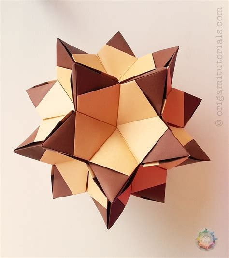 Origami Photo - argyle kusudama tutorial origami tutorials