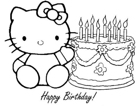 blank birthday coloring pages birthday drawing for kids happy birthday coloring pages