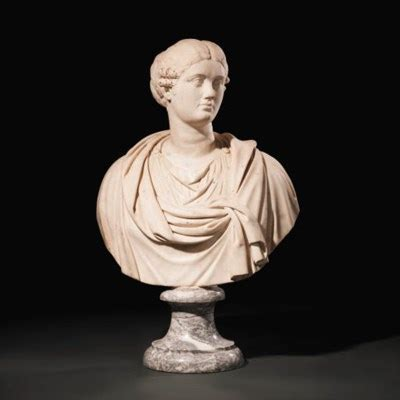 a carved marble bust of a roman lady , italian, late 16th