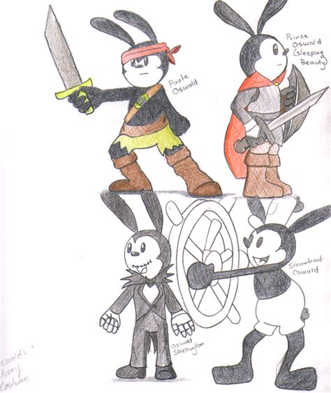 Luck You Mickey Dress many costumes of oswald pt 1 by galikitty on deviantart