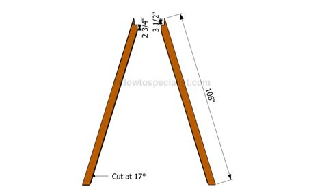 how to build swing frame how to build an a frame swing howtospecialist how to