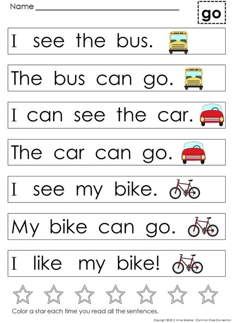 Kindergarten Reading Sight Words Worksheets kindergarten sight word reading worksheets kindergarten