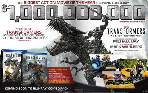 transformers 4 age of extinction home release info and