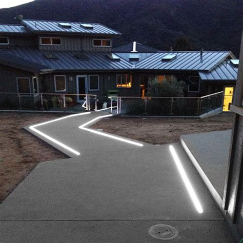 led lights in concrete in ground extrusions and max waterproof light up
