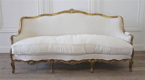 french rococo sofa 19th century louis xv french giltwood rococo sofa in