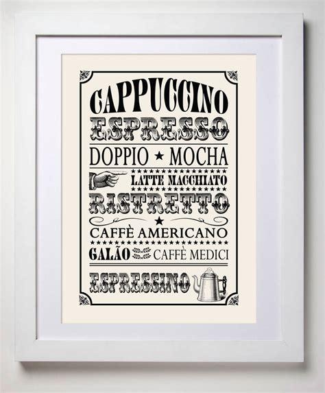 Coffee Print retro style coffee print by tea one sugar notonthehighstreet