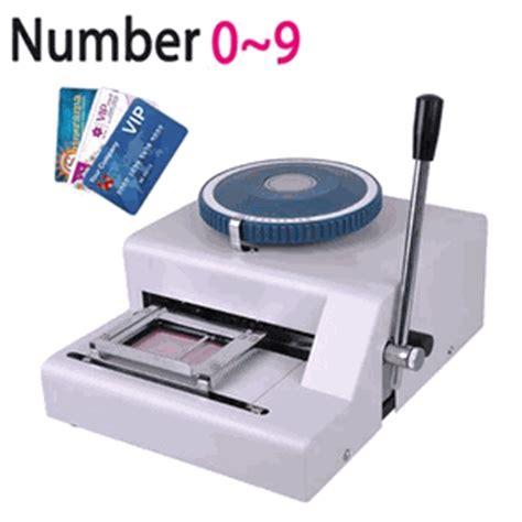 manual pvc credit card printing indenting machine