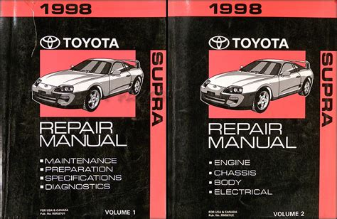 service manuals schematics 1997 toyota supra auto manual 1998 toyota supra repair shop manual original 2 volume set