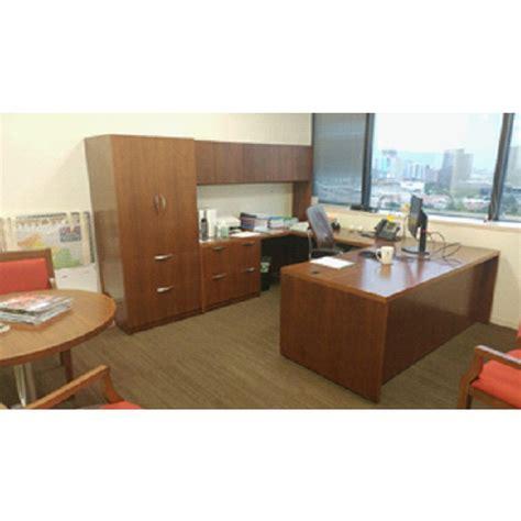 steelcase u shaped desk steelcase used left veneer u shape desk walnut