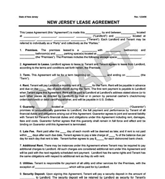 printable rental agreement nj new jersey residential lease agreement create download