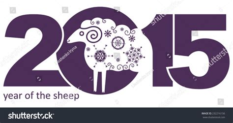 new year sheep symbols year of the sheep new year s a symbol of 2015 stock