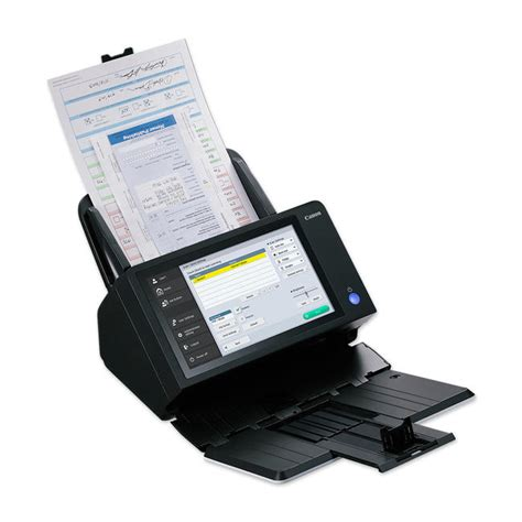 network scan canon scanfront 400 networked document scanner