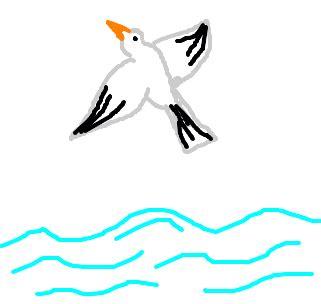 gaivota desenho de claudinhooooo gartic