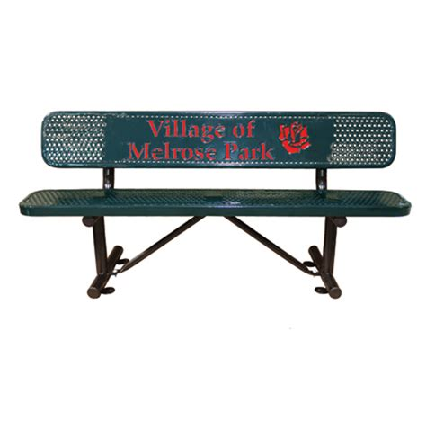 personalized bench personalized multicolor perforated standard bench