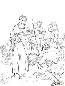 Ruth Working In The Fields Coloring Online Super Coloring Ruth Coloring Pages