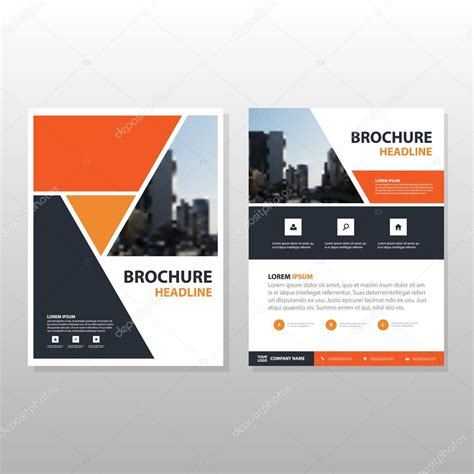 layout cover brochure orange black triangle annual report leaflet brochure flyer