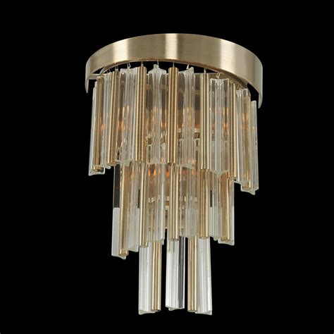 Gold Wall Sconce Lighting Allegri 029820 Espirali Brushed Chagne Gold Lighting