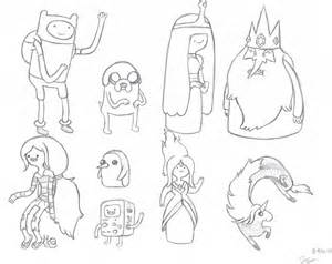 adventure time character reference sheet by