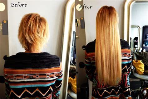 hair extensions for short hair before and after these hair extensions for short hair totally changed her