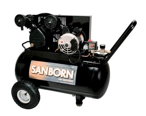sanborn  gallon horizontal portable air compressor