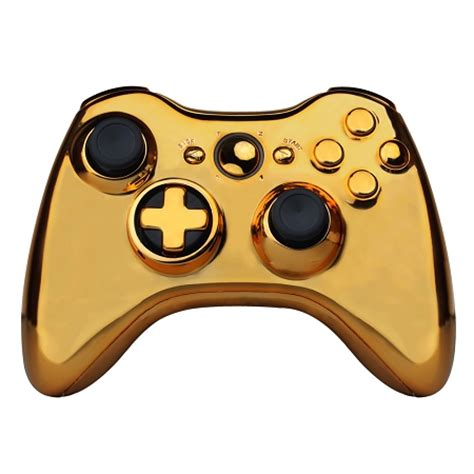 gold controller shell kit with transformable dpad for