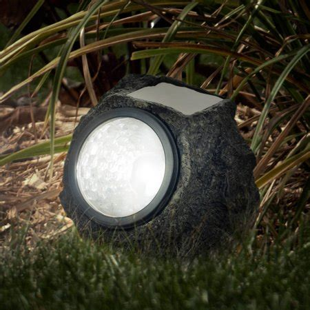 solar powered rock lights set of four low voltage led