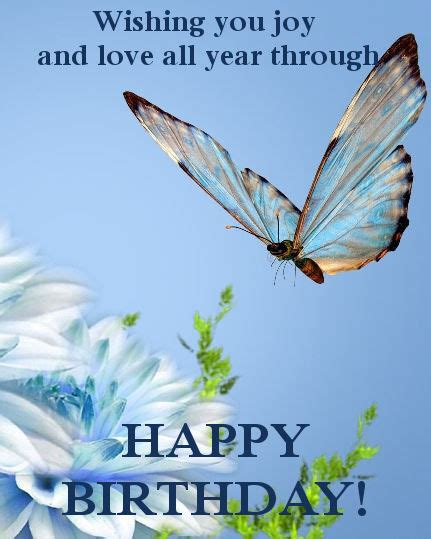 Happy Birthday Wishes Butterfly Birthday Cards With Butterflies