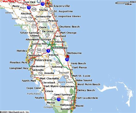 florida coast map map of florida melbourne deboomfotografie