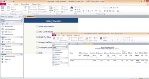 Microsoft Access 2010 Database Templates For Ms Access In Many Sles For Small Business Access Payroll Database Template