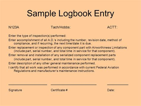 Aircraft Maintenance Logbook Entry Exle The Best And Latest Aircraft 2017 Aircraft Logbook Entry Template