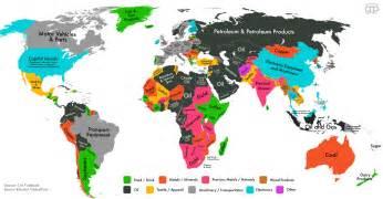 Carte le produit le plus export 233 par chaque pays du monde slate fr