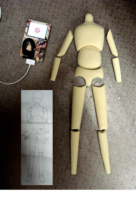 jointed doll blueprint of a bjd by michael on deviantart