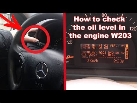 hidden function w203. how to check the oil level in the