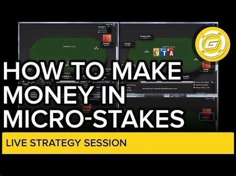 How To Make Money On Online Poker - how to make money in microstakes online poker strategy