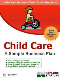 Business Plan Template For Daycare Center Child Care Center Business Planexplore Startups Explore