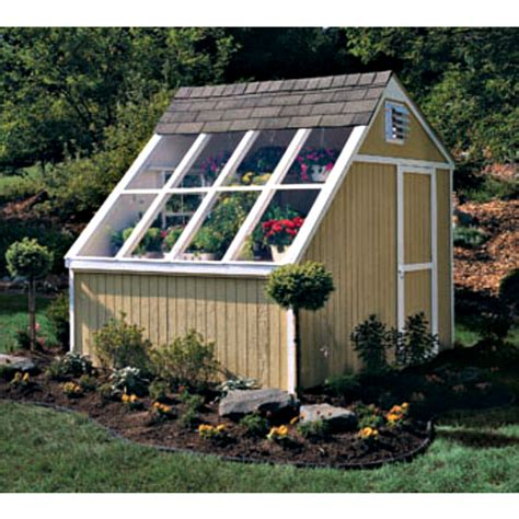 garden shed greenhouse plans handy home phoenix 8x10 solar shed greenhouse kit 18147 4