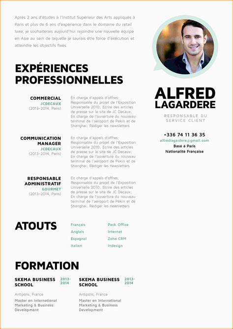 Cv In Commercial 7 cv commercial exemple lettre