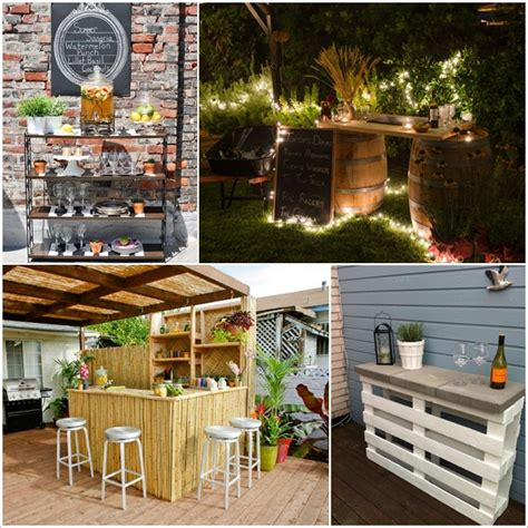 Creative And Low Budget Diy Outdoor Bar Ideas Diy Smartly Backyard Bars Designs