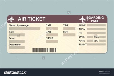 and ticket templates airplane ticket template exle mughals