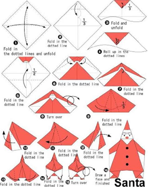 Make Origami Santa Claus - how to make origami how to make santa origami