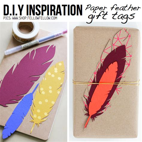 How To Make Paper Tags - feather diy ideas tutorials