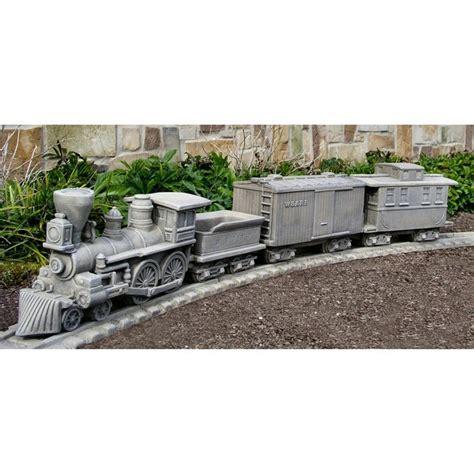 Garden Railway Accessories Civil War Locomotive Garden Planter Set