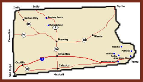 california map imperial valley ghost towns of california imperial county